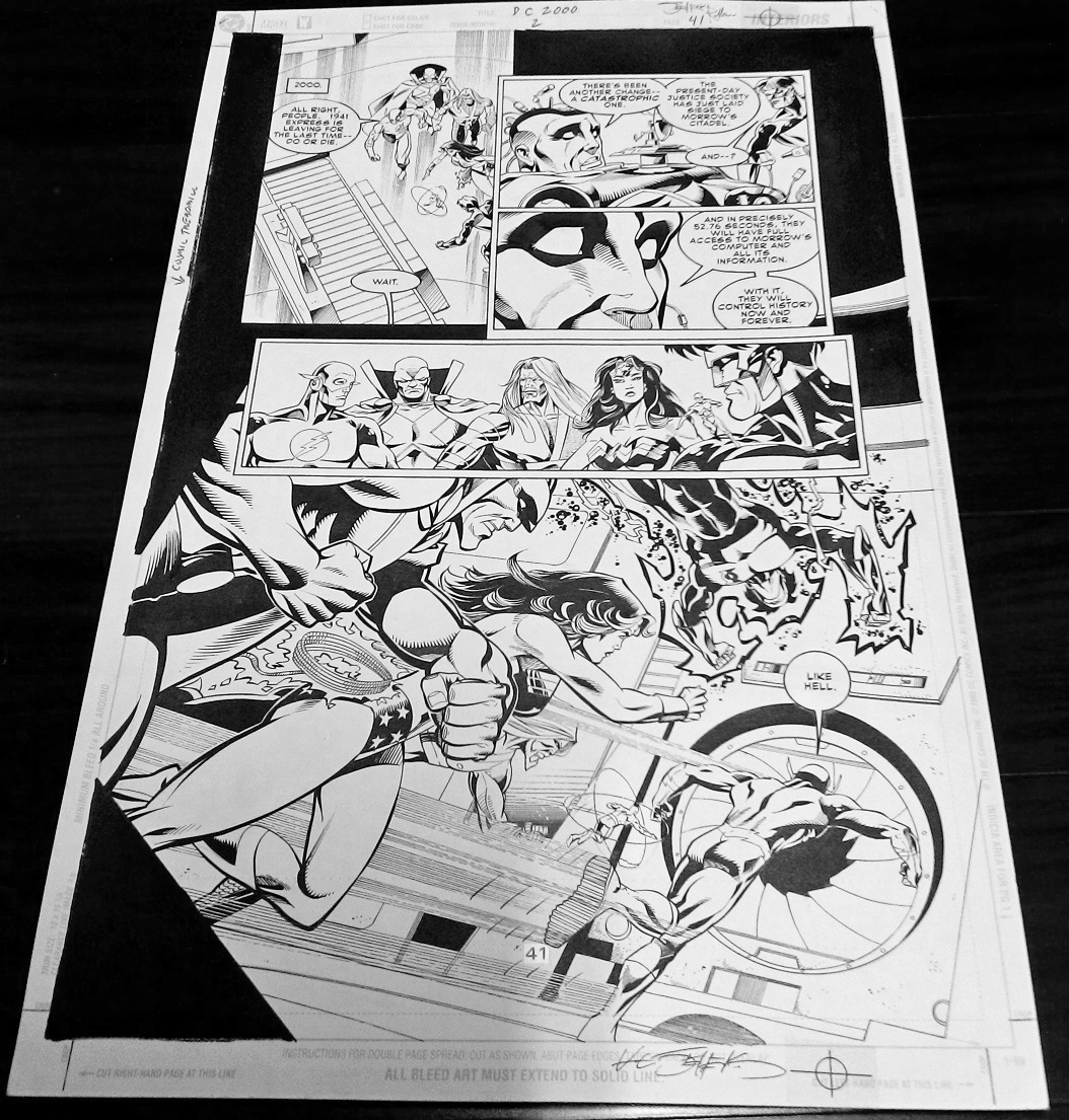 Justice League original art