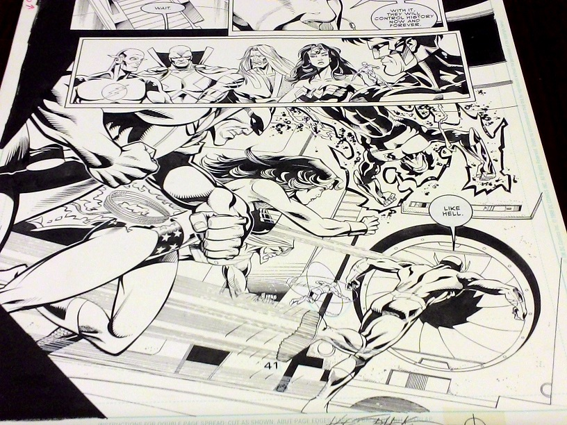The Flash original art
